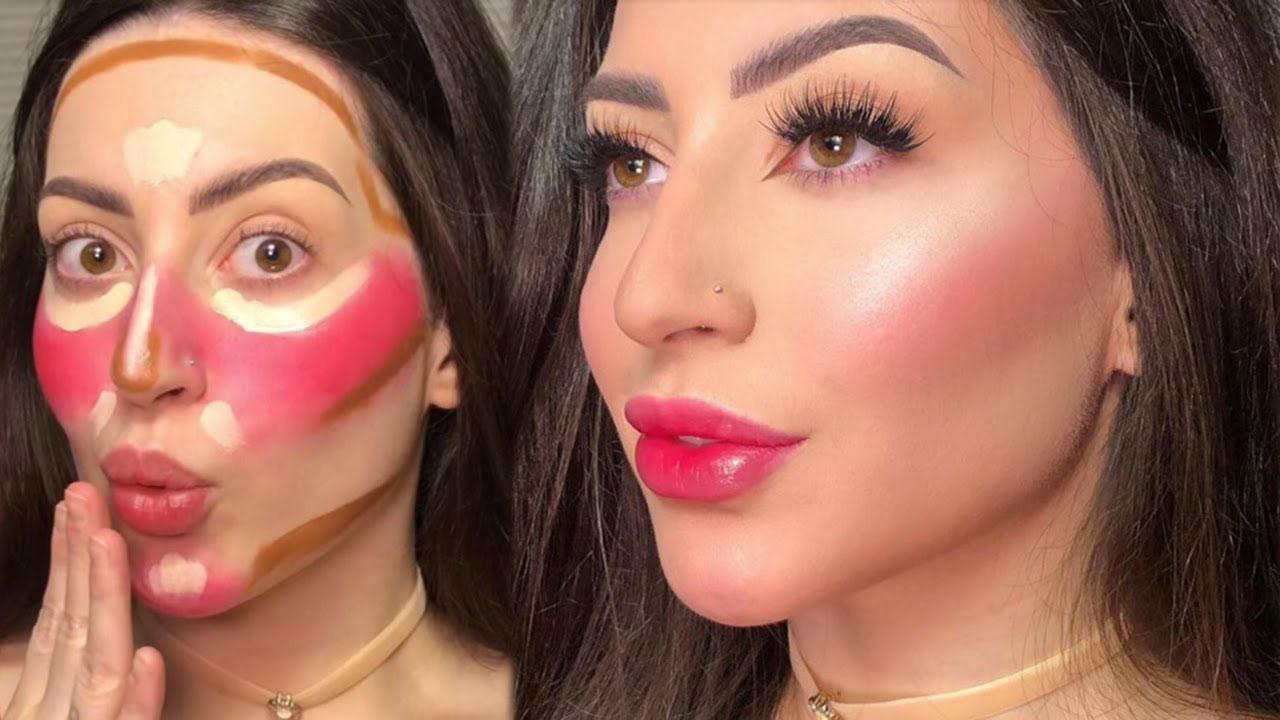 blush técnica sellma maquiagem batom vermelho tiktok