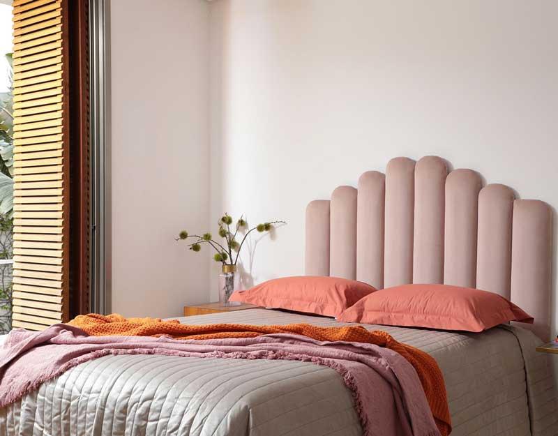 cabeceira de cama acolchoada painel