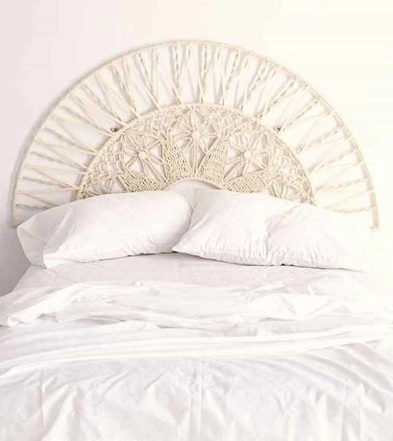 cabeceira de cama macrame