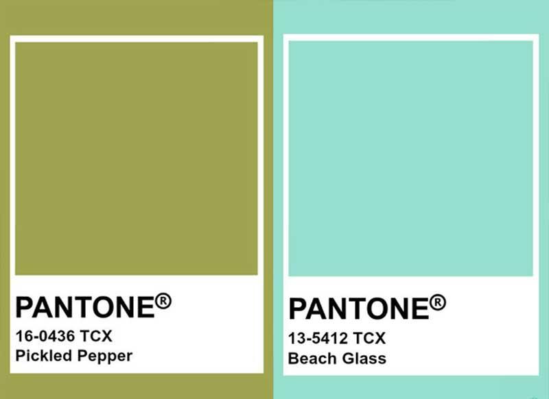 cores pantone verde tendência