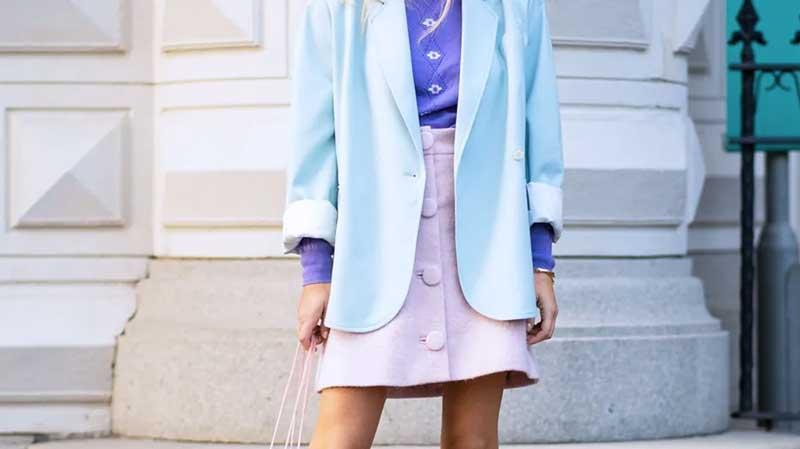 cores pastel roupas