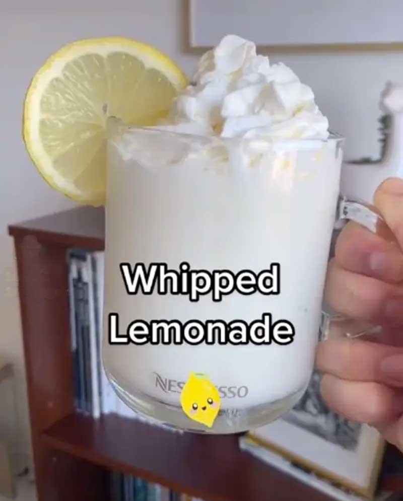 limonada batida com chantilly como fazer