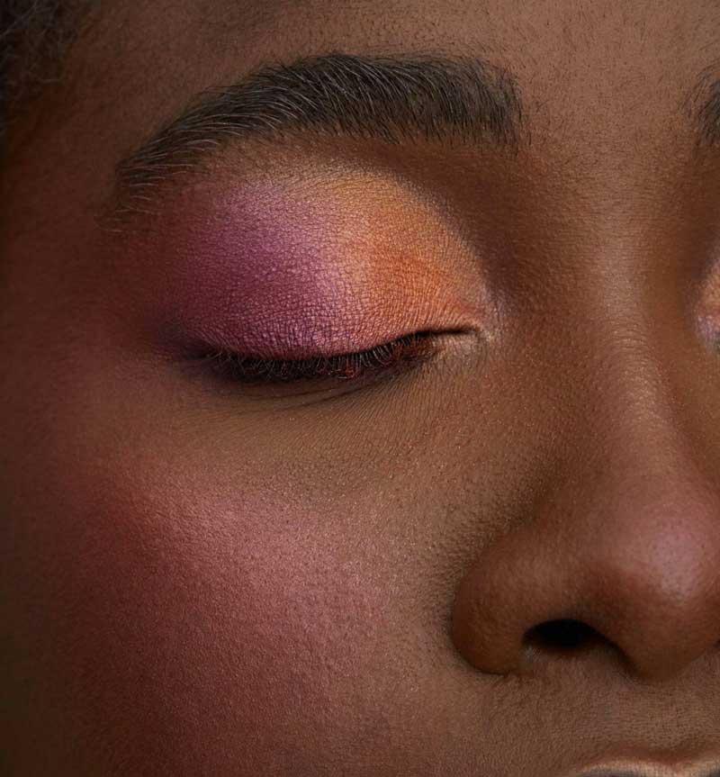 maquiagem colorida pele negra  sombra degrade