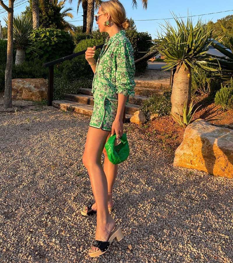 roupas verde com estampa como usar