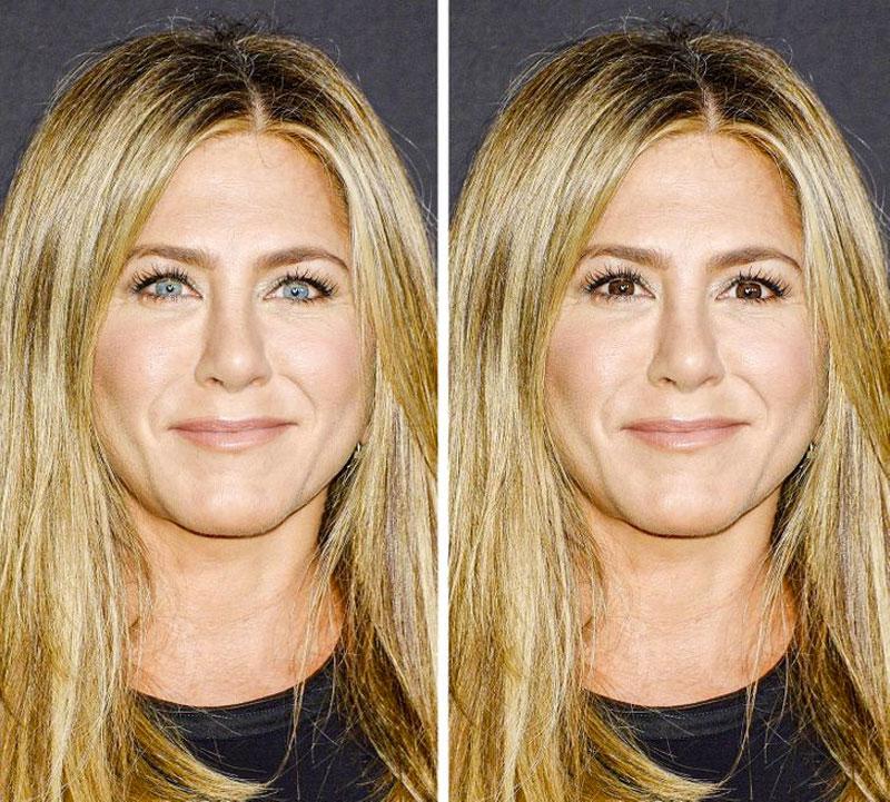 Jennifer Aniston olhos azuis