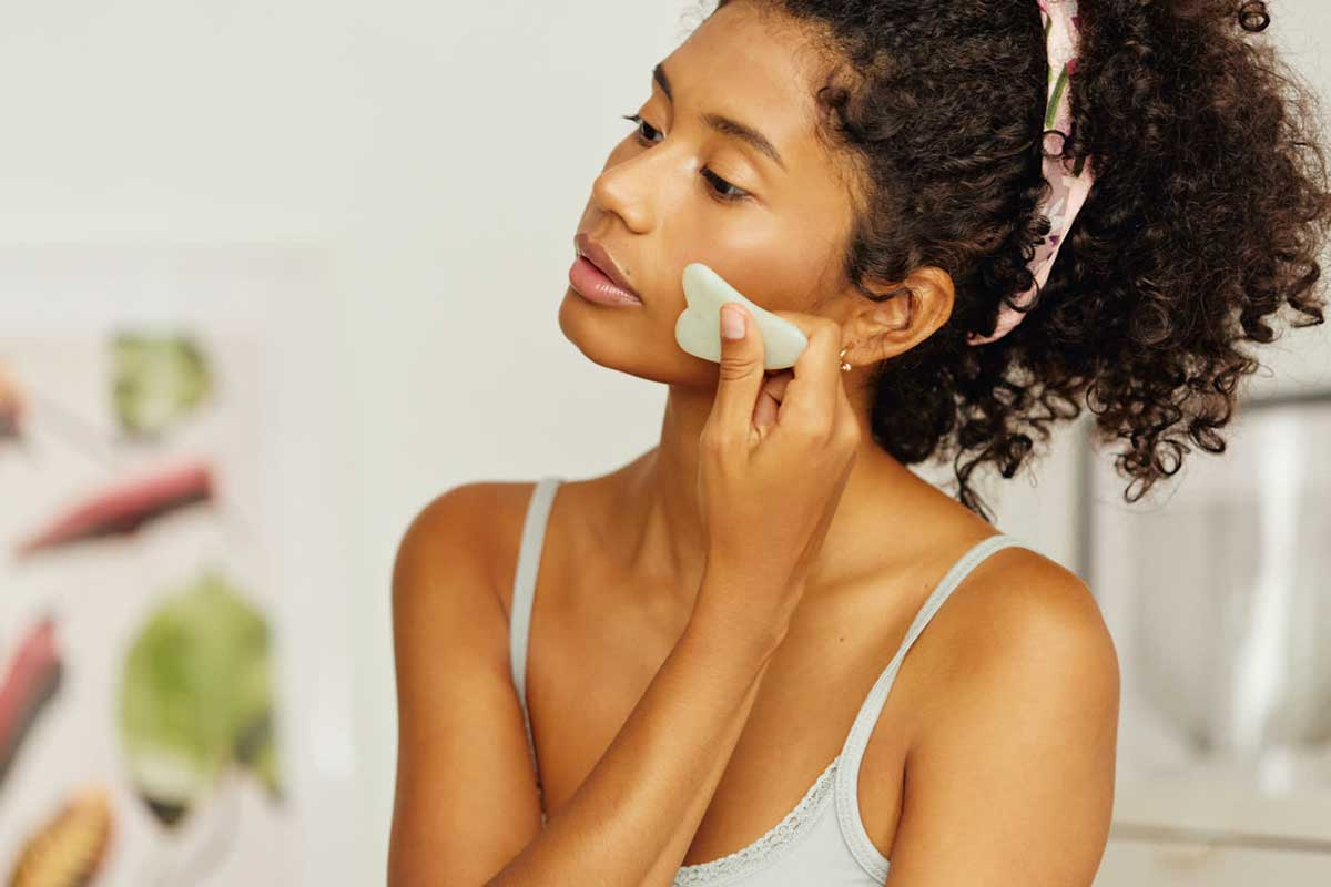 drenagem linfática facial gua sha