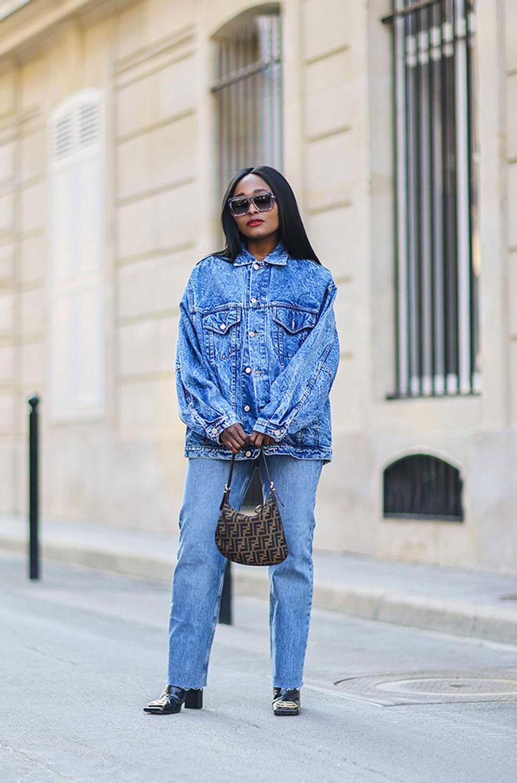 jaqueta jeans larga