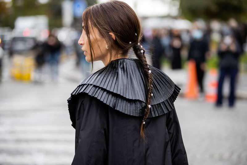 penteados com tranças pérolas