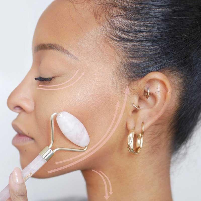 drenagem linfática facial rolo de jade