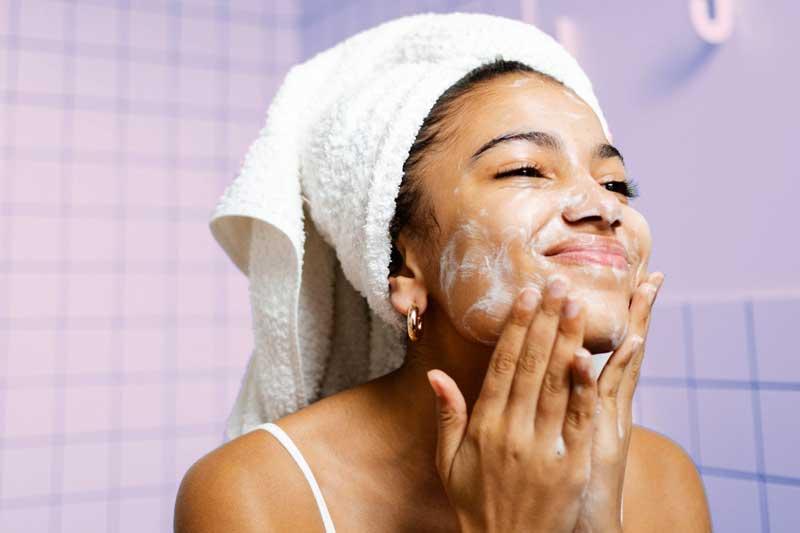 cuidados com a pele lavagem rosto