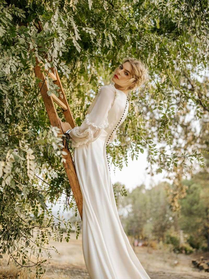 vestidos de noiva manga comprida gola alta